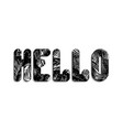 stylized word hello written three-dimensional vector image vector image