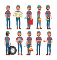 truck driver professional worker man vector image vector image