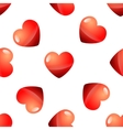 Valentine Day seamless red heart pattern vector image vector image