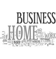 work at home a home business vs a work at home vector image vector image