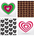 striped heart on white background Valentines day vector image
