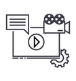 video marketing line icon sign vector image