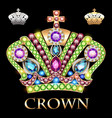 imperial gold crown with jewels vector image