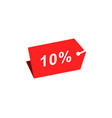 10 discount hang tag template vector image vector image