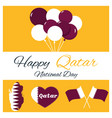 18 december qatar national day card vector image vector image