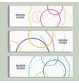 abstract circle set vector image vector image
