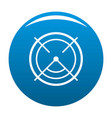 aim radar icon blue vector image vector image