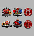 american football logo and badge set image vector image