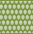 background pattern with hops vector image vector image