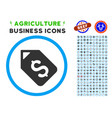 bank account tag rounded icon with set vector image vector image