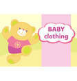 banner with a teddy bear Template for advertising vector image vector image