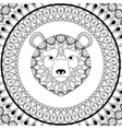 Bear icon Animal and Ornamental predator design vector image vector image
