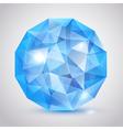 Big blue crystal vector image