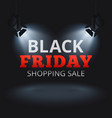 black friday shopping sale background vector image vector image