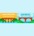 bridges banner set flat style vector image vector image