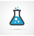 Chemical flask color flat icon vector image
