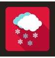 Cloud and snowflakes icon flat style vector image vector image