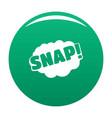 comic boom snap icon green vector image