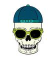 cool skull cartoon vector image vector image