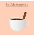 Cup of double espresso or americano with spices vector image vector image