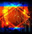 cyber tech circuit board vector image