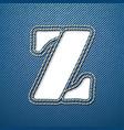 Denim jeans letter Z vector image vector image