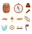 design adventure and sea icon vector image vector image