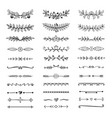 doodle dividers hand drawn line borders vector image