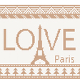Eiffel tower Scandinavian style seamless knitted p vector image vector image