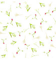 floral pattern in scandinavian style vector image vector image