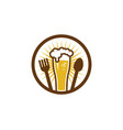food beer logo icon design vector image