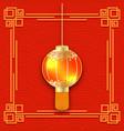glowing chinese lantern 3d detailed flashlight vector image