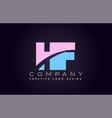 hf alphabet letter join joined letter logo design vector image vector image