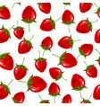 infinite pattern with berries vector image vector image