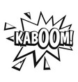 kaboom explosion icon simple style vector image vector image
