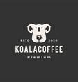 koala coffee hipster vintage logo icon vector image vector image