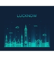 Lucknow skyline linear style vector image vector image