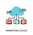 marketing cloud vector image