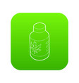 medical marijua bottle icon green vector image vector image
