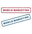 Mobile Marketing Rubber Stamps vector image vector image