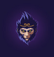 monkey king head vector image