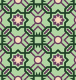 Mosaic tile pattern with abstract green design vector image