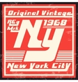 New York vintage stamp vector image