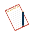 Notebook pencil notes stationary icon