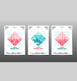 poster design template abstract background vector image vector image