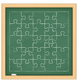 Puzzle on blackboard vector image vector image