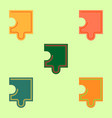 Puzzle piece collection vector image