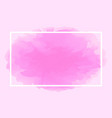 rectangle line white on abstract pink soft vector image vector image