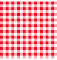 red checkered fabric vector image
