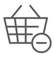 remove from bucket line icon shopping and vector image vector image
